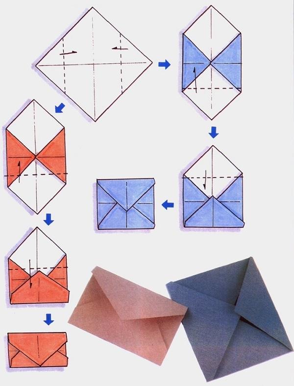 Как делать конверт своими руками из бумаги
