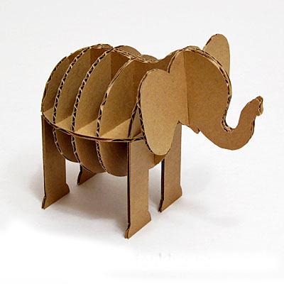 Объемные фигуры животных из картона своими руками